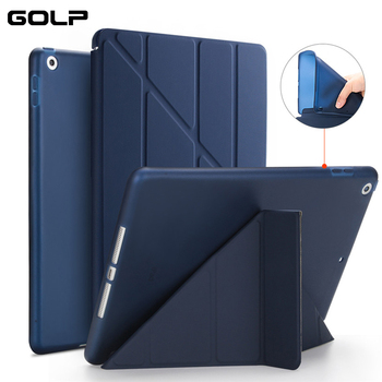 Case Cover for iPad 10.2 2019, GOLP PU Leather Magnetic Smart Cover Soft TPU Back Protective Case for iPad 10.2 7th 2019 cover for ipad6 leather case soft tpu back trifold smart cover shockproof protective case for ipad 6 air2 gift
