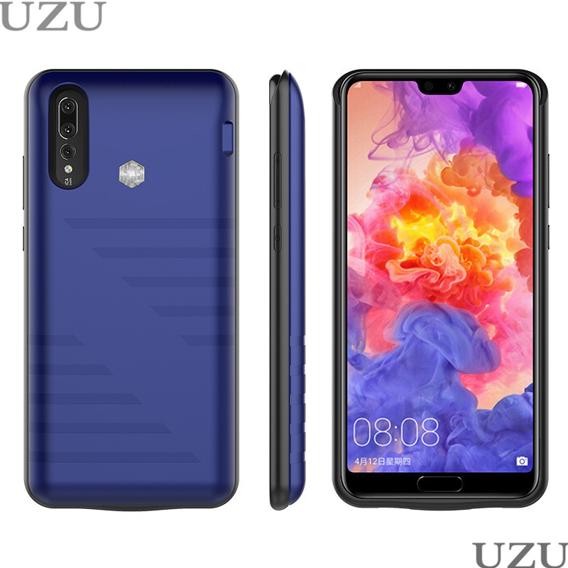 6800mah external portable <font><b>battery</b></font> charger <font><b>case</b></font> for <font><b>Huawei</b></font> <font><b>P20</b></font> wireless charging cover for <font><b>Huawei</b></font> <font><b>P20</b></font> luxury image