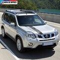 Для Nissan X-Trail T31 T30 Автомобильный капот спортивные полосы гоночный Стиль Авто Крышка двигателя капот Декор наклейки внешние аксессуары