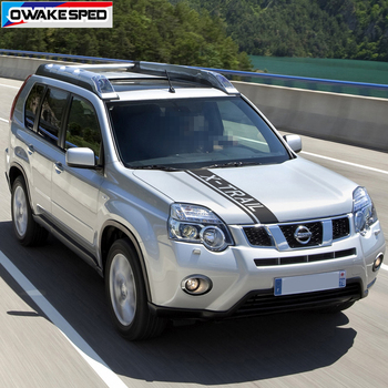 цена на For Nissan X-Trail T31 T30 Car Bonnet Sport Stripes Racing Styling Auto Engine Cover Hood Decor Stickers Exterior Accessories
