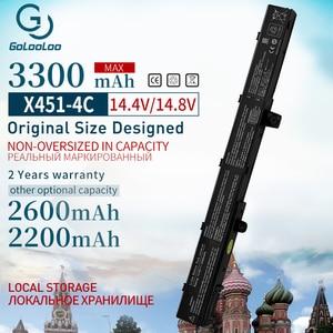 Image 1 - Golooloo 14,8 V 3300 mAh A41N1308 Neue Laptop Batterie für ASUS A31N1319 X451C X551M X451 X551 X451M X551C 0B110 00250100 A31LJ91