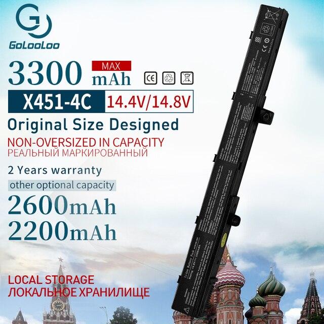 Golooloo 14,8 V 3300 mAh A41N1308 Neue Laptop Batterie für ASUS A31N1319 X451C X551M X451 X551 X451M X551C 0B110 00250100 A31LJ91