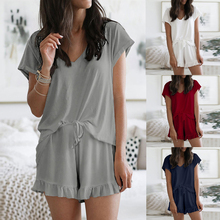 Loose Sleepwear Women Fashion Summer Lounge Wear Nightgown Female Pajama Set Hom
