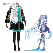 Miku pu cosplay trajes vocaloid conjunto completo cosplay traje trajes anime cosplay trajes harajuku