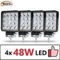 OKEEN 4 шт Автомобильный светодиодный бар рабочий свет 48 Вт внедорожный рабочий свет 12 В LED свет внутренний светодиодный 4x4 светодиодный фара т...