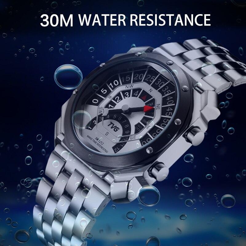 Relógio digital masculino tvg relógio bússola relógio