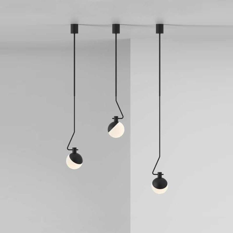 Modern Led Pendant Lights Indoor Lighting Dining Room Lamp Black Minimalist Pendant Lamps Home Decoration Lighting E27 S