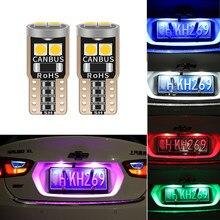 T10 w5w 194 carro conduziu luzes de folga canbus para hyundai i30 ix35 solaris i20 sonata para kia k5 sportage l811 luz da placa licença