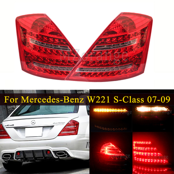Rear Tail light For Mercedes-Benz W221 S-Class 2007-2009 Tail Stop Brake lights Bumper Reflector Lamp Car Parts Accessories carbon fiber rear roof spoiler lip for mercedes benz s class w221 s63 amg sedan 4 door 2007 2012 car styling
