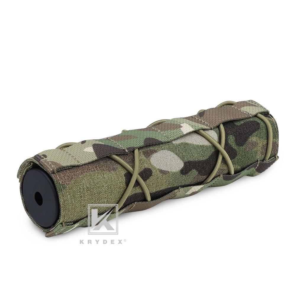 KRYDEX 18CM Muffler Protective Case Tactical Shooting Suppressor Nylon Silencer Protector Cover For Surefire FA762K Accessory MC