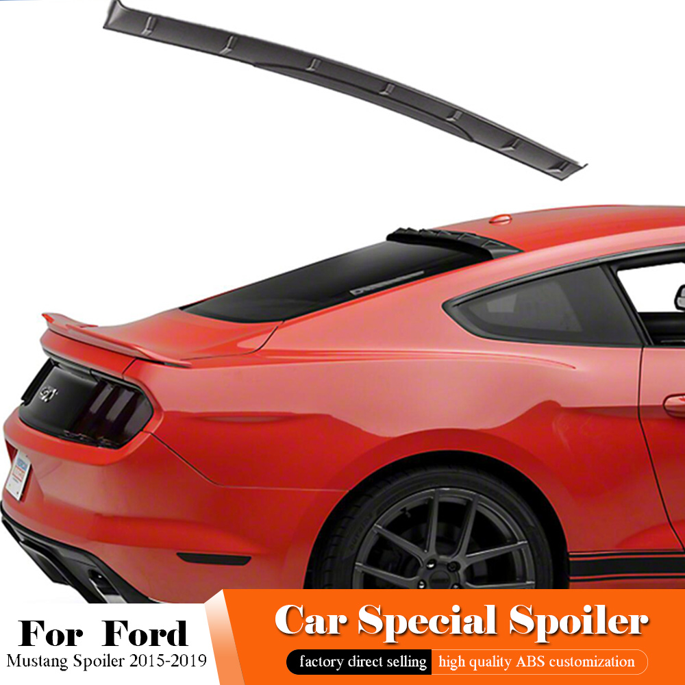 AITWATT For Ford <font><b>Mustang</b></font> Black Roof Spoiler <font><b>2015</b></font> 2016 2017 2018 2019 Tail <font><b>Wing</b></font> Decoration ABS Plastic Rear Trunk Roof Spoiler image