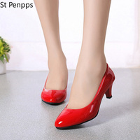 2021 Female Pumps Nude Shallow Mouth Women Shoes Fashion Office Work Wedding Party Shoes Ladies Low Heel Shoes Woman Autumn 1