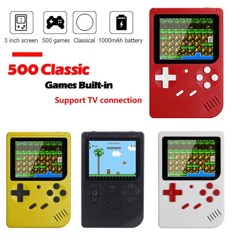 Mini Handheld Game Console Portable Retro Nostalgic Classic Mini FC Duet Game Console 500 Games For Kids Boys Girls Gifts