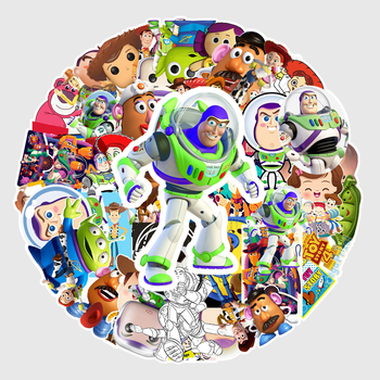 Disney 53pcs Toy story Cartoon Stickers for Car Styling Bike Motorcycle Phone Laptop Travel Luggage Cool Funny Sticker JDM Decal image