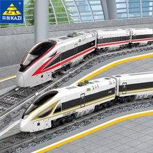 98229 cidade elétrica trem blocos de construção brinquedos pista montagem presentes menino revival trem crianças brinquedos