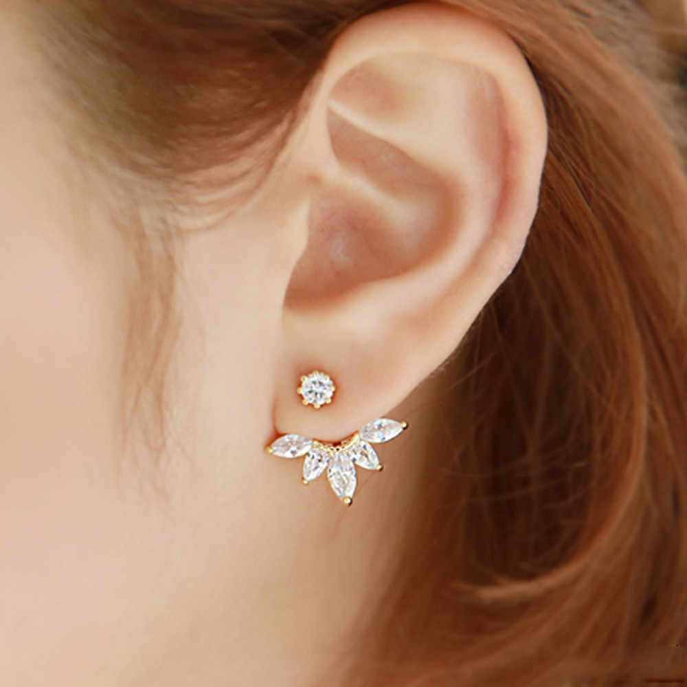 Generous Fashion Women Crystal Rhinestone Earrings Suitable Apparel For Different Occasion Flower Earrings Jewelry Gifts
