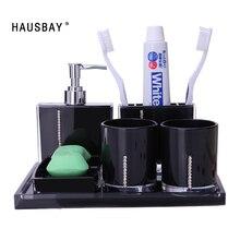 Ensemble de boîte de savon, bouteille en Lotion porte brosse à dents tasse, accessoires modernes pour le lavage de la salle de bain, en acrylique, accessoires de salle de bains, 0908A