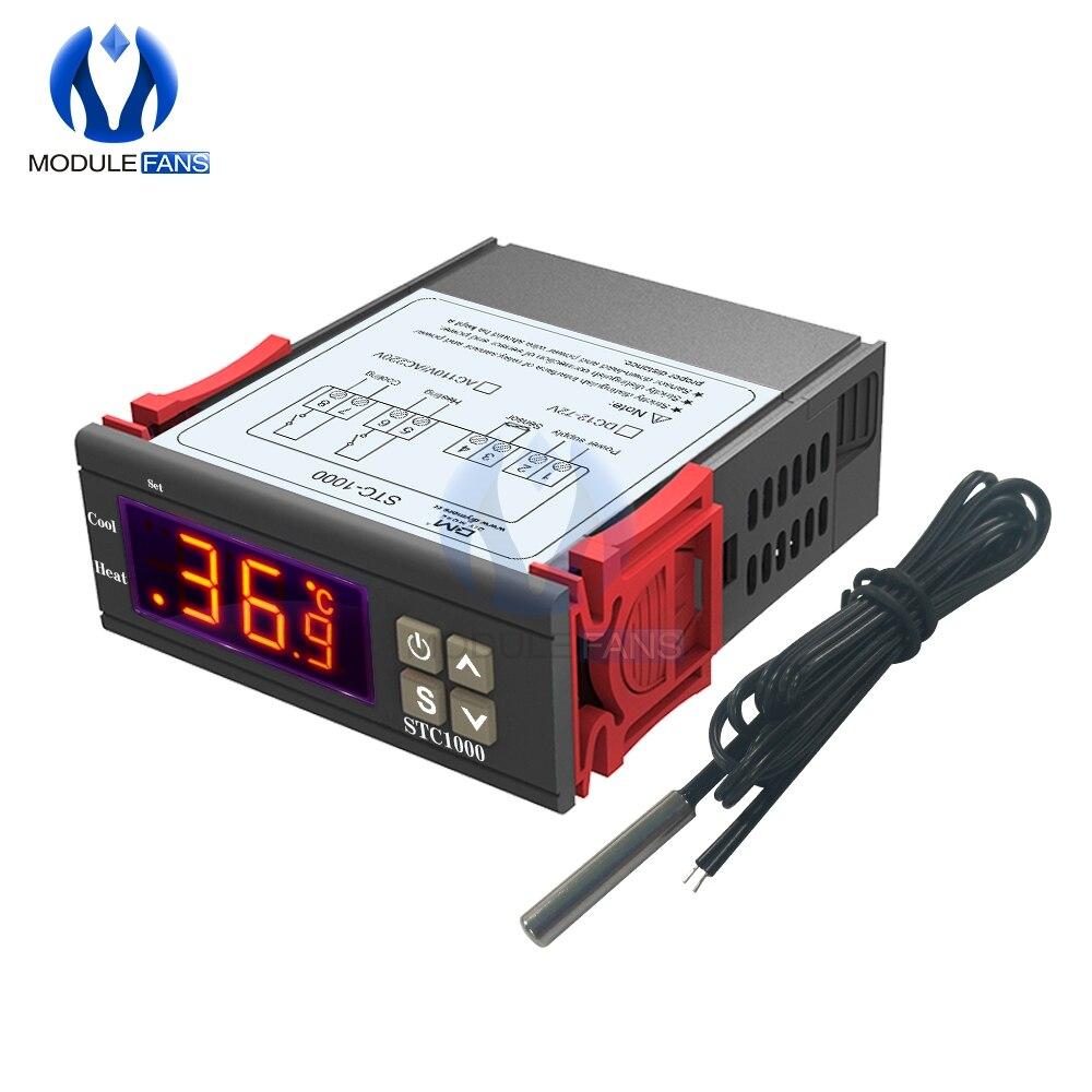 NEW 12V//24V//110V//220V STC-1000 Digital Temperature Controller Thermostat w//NTC K