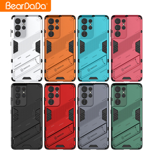 Image 2 - Armor For Samsung s21 ultra case cover Shockproof Holder Phone Case PC Silicone For Samsung galaxy s21 Plus fe Case Coque Fundas