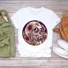 Женская футболка с принтом подсолнуха цветочным и графическим