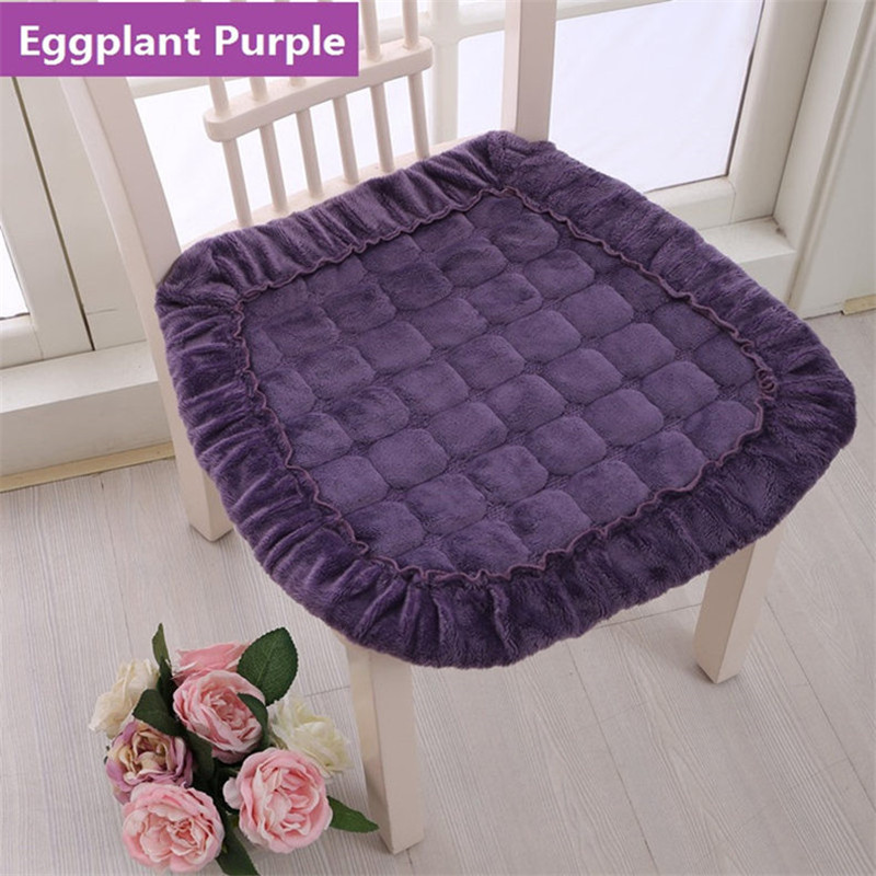 Flannel Buttock Sitting Pad Office Chair Cushion Studengt Chair Cushion Solid Soft Seat Mat Home Dector Sofa Seat Cushion Europe