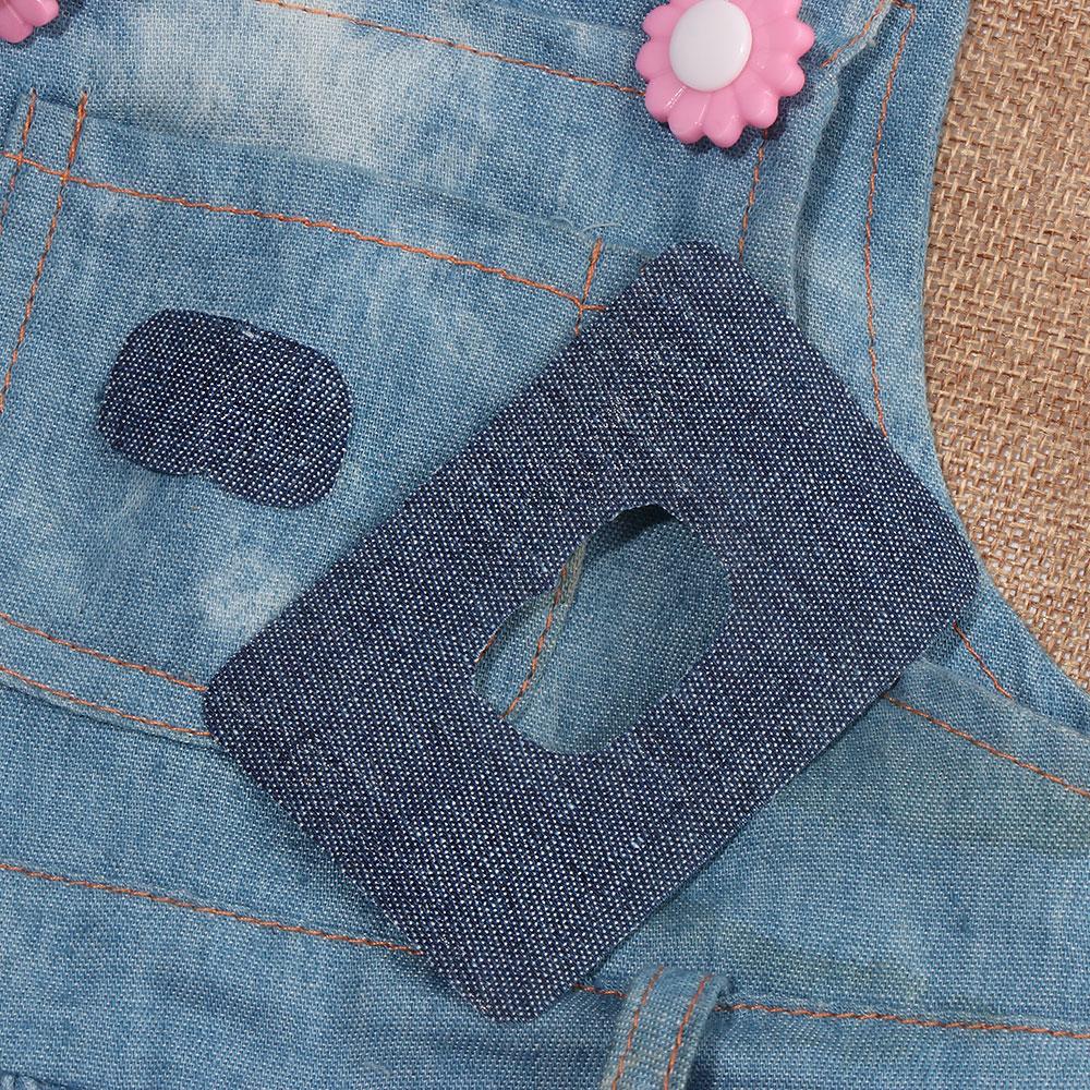 4//12PCS Repair Pants Applique Apparel Jeans DIY Iron-on Knee Elbow Fabric Patch