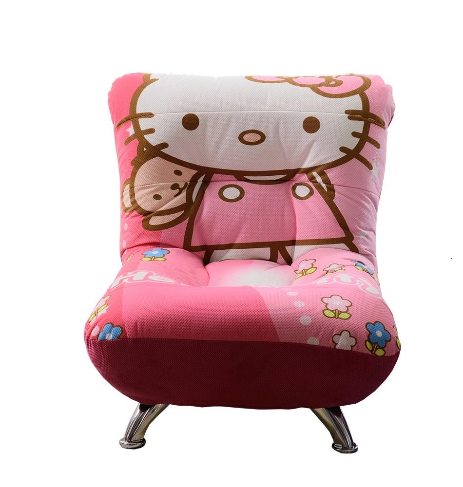 Children Sofa Cartoon Baby Sofa Chair Girl Lovely Single Person Mini Princess Tatami Bean Bag Zitzak Children Bedroom Pink