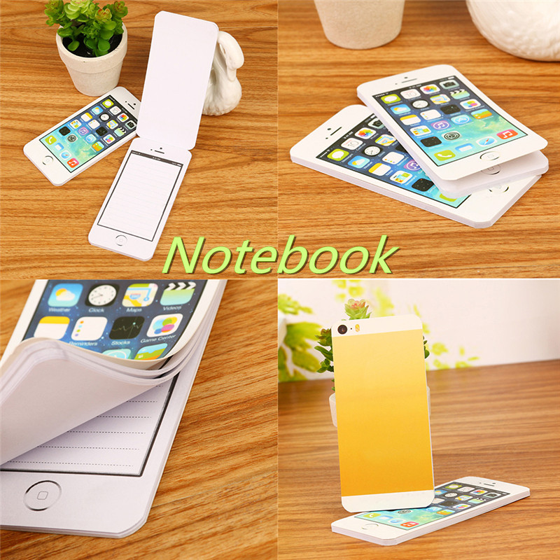 1pcs Creative <font><b>Notebook</b></font> Sticky Note Paper Cell Phone Shaped Notepad Planner Office Supplies New Creative Stationery Gift image