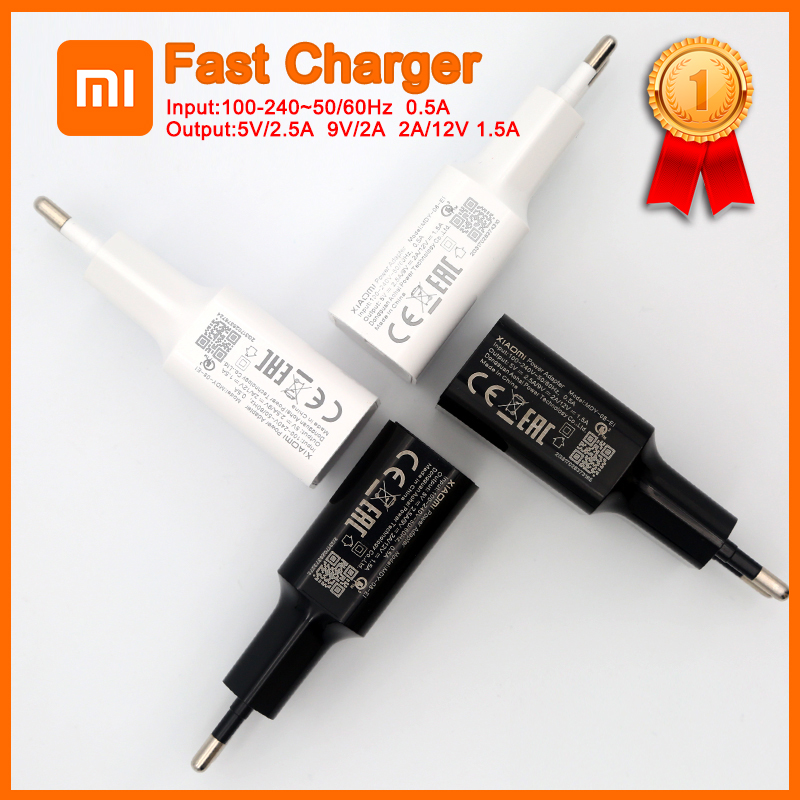Original xiaomi mi8 QC3.0 fast charger 12v/1.5a 9v/2a EU wall charging fast adapter typec cable for mi 8 se 8 6 mix 3 2s <font><b>2</b></font> max 3 image