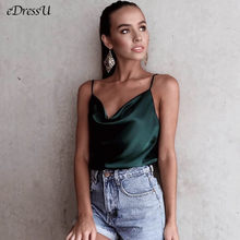 2020 frauen Tank Top Sexy Silk Satin Sommer Top Tees Solide Grün Weiß Drucken Casual Tank Plus Größe Tägliche Club disco Camis LH-8051(China)