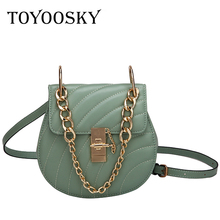 TOYOOSKY Designer Crossbody Bag For Women Messemger Bags Pu Leather Shoulder Fashion Famous Brand Lady Semicircle Saddle
