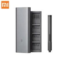 Xiaomi Mijia elektrik hassas tornavida seti 2 dişli tork 400 vida 1 tip c şarj manyetik alüminyum kasa kutusu 24 S2