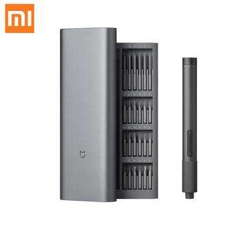 Xiaomi Mijia elektryczny zestaw precyzyjnych wkrętaków 2 bieg Torque 400 śruba 1 type-c ładowanie magnetyczny aluminiowy futerał Box 24 S2 tanie i dobre opinie NONE CN (pochodzenie) Gotowa do działania 2 KANAŁY Mijia Electric Precision Screwdriver
