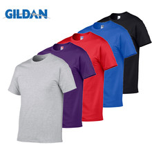 Gildan Marca Confezione di Vendita di Estate degli uomini 100% Cotone T-Shirt Uomo Casual Manica Corta O-Neck T Shirt di Colore Solido Comodo magliette e camicette Magliette