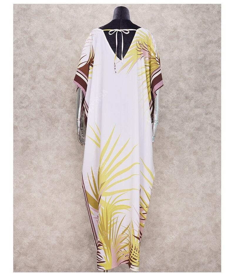 H63ccca8f9be245619f8f58f4d392b17db - Sexy Bikini Cover ups Cotton Tunic Boho Printed Summer Beach Dress Elegant Women Plus Size Beach Wear Swim Suit Cover Up