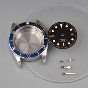 41mm zegarki przypadku wybierania rąk zegarek części mosiądz powlekane 316L S stal pasuje ETA 2836/2824 Miyota8215 821A ruch dla mężczyzn mechanica