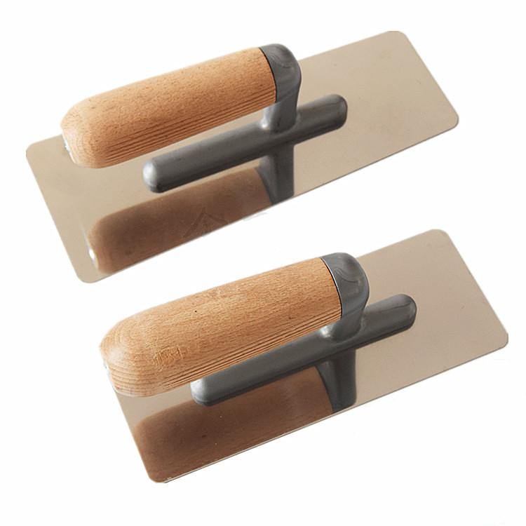 2Pcs/Lot Stainless Steel Trowel Tool Batch Wall Shovel Tool Putty Tool Cement Finishing Tool Putty Knife The Rounded