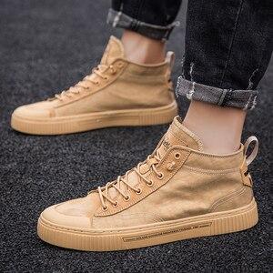 Image 4 - 2020 חדש נעלי גברים נעליים יומיומיות גבוהה למעלה סניקרס גברים גופר נעלי פלטפורמת סניקרס באיכות גברים של סניקרס Masculinas מגפיים