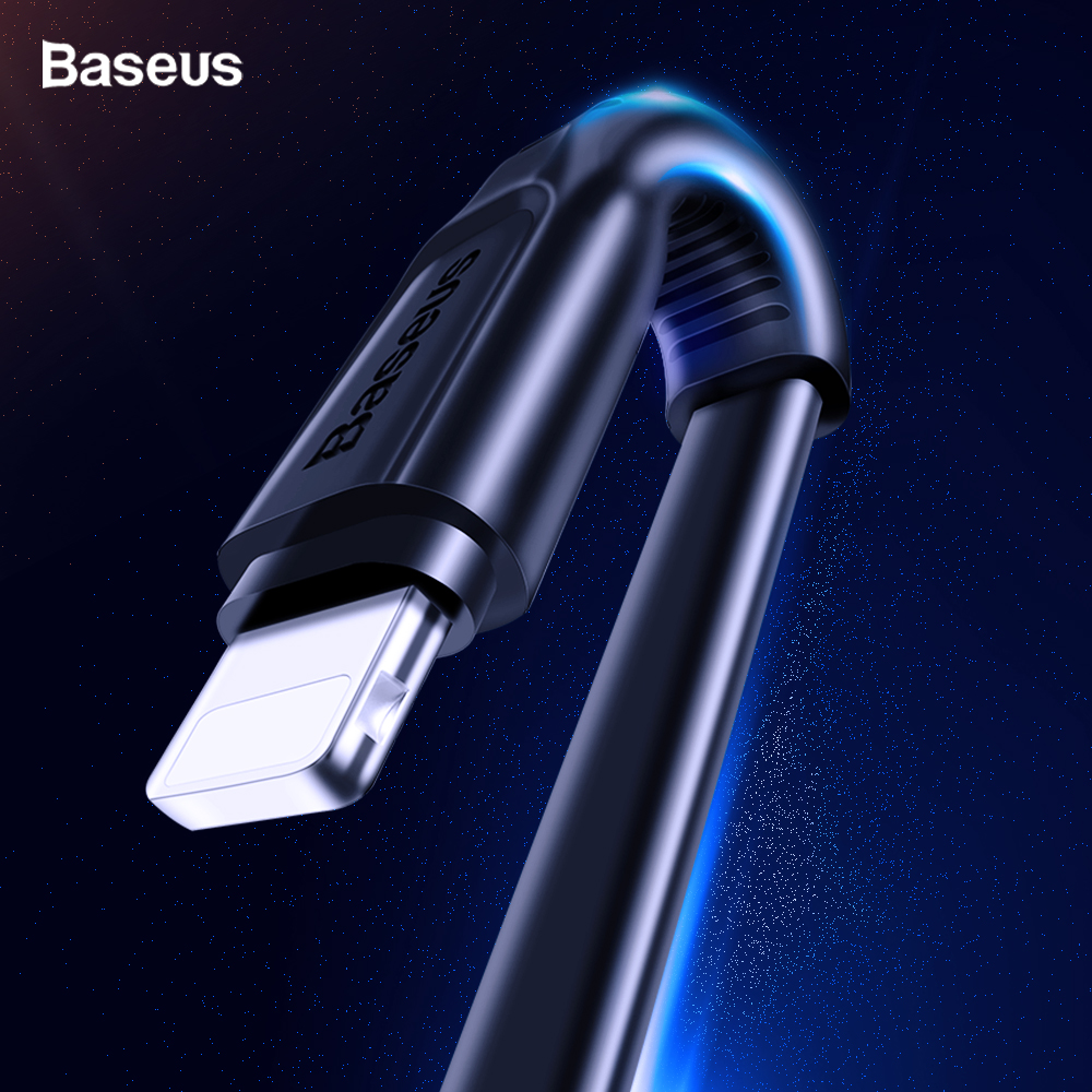 Baseus Flat USB Cable For iPhone XS Max XR X 8 7 6 6s Plus 5 5s se iPad Mini Fast Data Charging Charger Cord Mobile Phone Cable-in Mobile Phone Cables from Cellphones & Telecommunications on AliExpress