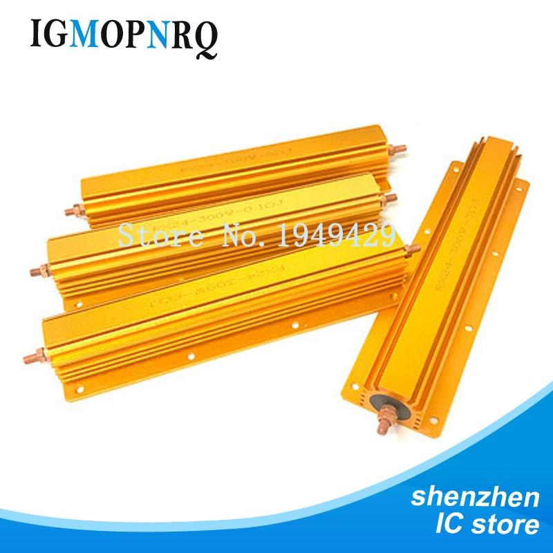 300W Aluminum Power Metal Shell Case Wirewound Resistor 0.1R ~ 100R 0.1R 0.5R 1R 2R 2.5R 3R 4R 5R 6R 8R 10R 20R 50R 100R ohm