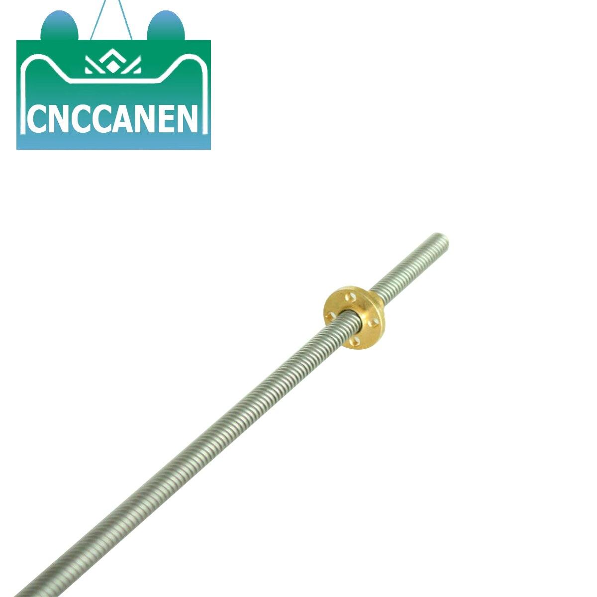 T16 Lead Screw 3D Printer 100mm~1000mm Picth 4mm Lead 4mm + Brass Nut