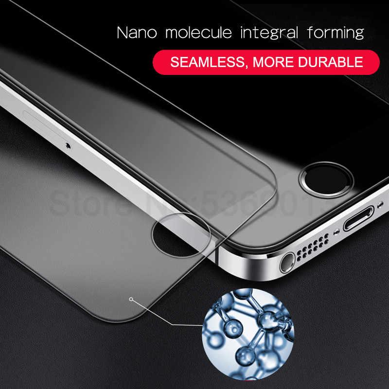 9D الزجاج المقسى على ل أبل فون 5 S 5 SE 5C 4 4S واقي للشاشة 9H مكافحة انفجار طبقة رقيقة واقية الزجاج ل فون 5 S SE