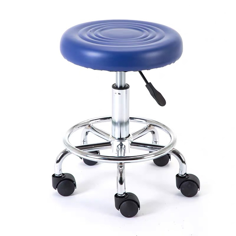 beauty salon furniture barbershop equipment barber shop chair tattoo nail makeup hair chair with wheel hairdressing stool red
