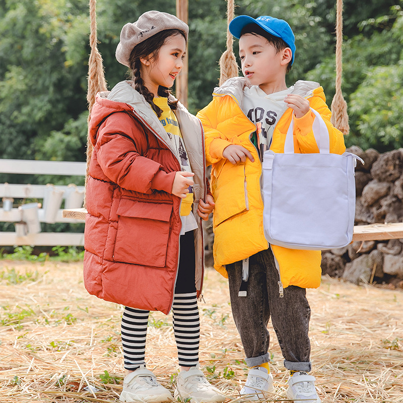 Boy Winter Coat Jackets Girls Kids Autumn Fashion And Cotton 3-14T Candy-Color New-Arrival