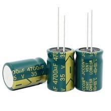 35V 4700 فائق التوهج 4700 فائق التوهج 35V مكثفات كهربائية حجم: 18*25 مللي متر أفضل جودة جديد الاصل