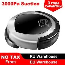Купить с кэшбэком (Moscow Warehosue) LIECTROUX Robot Vacuum Cleaner B6009,Map Navigation,Smart Memory,Suction 3000pa, Big Water Tank, Durl UV Lamp