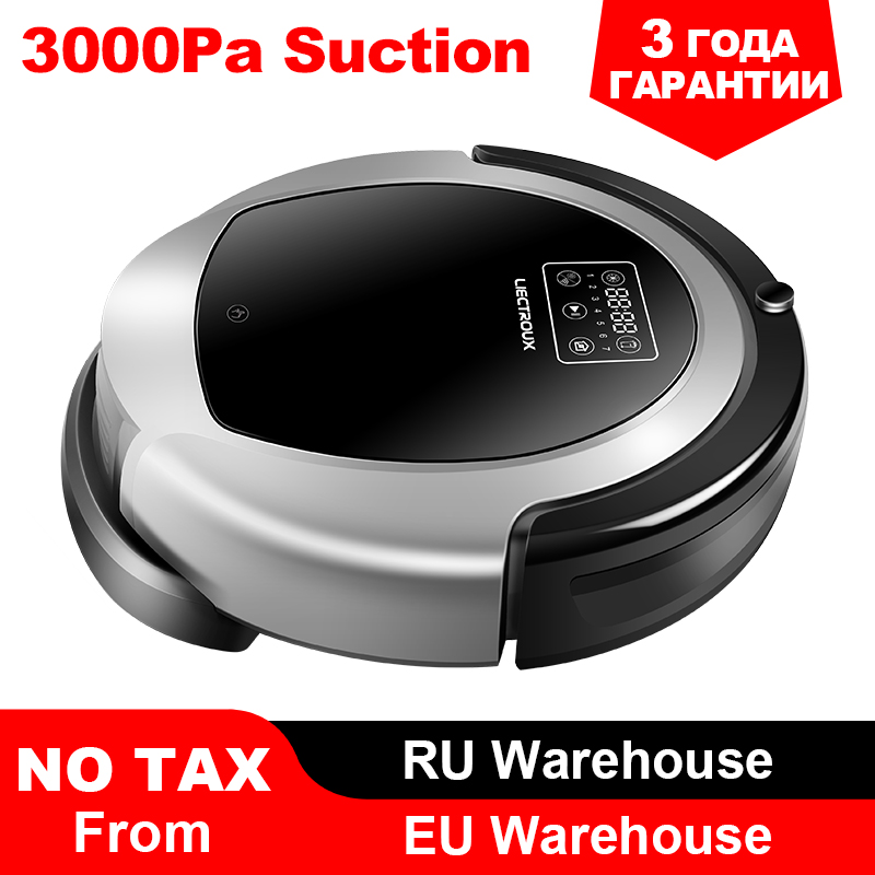 (Moskau Warehosue) LIECTROUX Roboter Staubsauger B6009, Karte Navigation, Smart Memory, Saug 3000 pa, große Wasser Tank, Durl UV Lampe