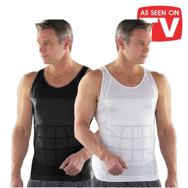 2020 Men Slimming Body Shaper Tummy Shaper Vest Slimming Underwear Corset Waist Waist Cincher Men Bodysuit Waist traine Dropship(China)
