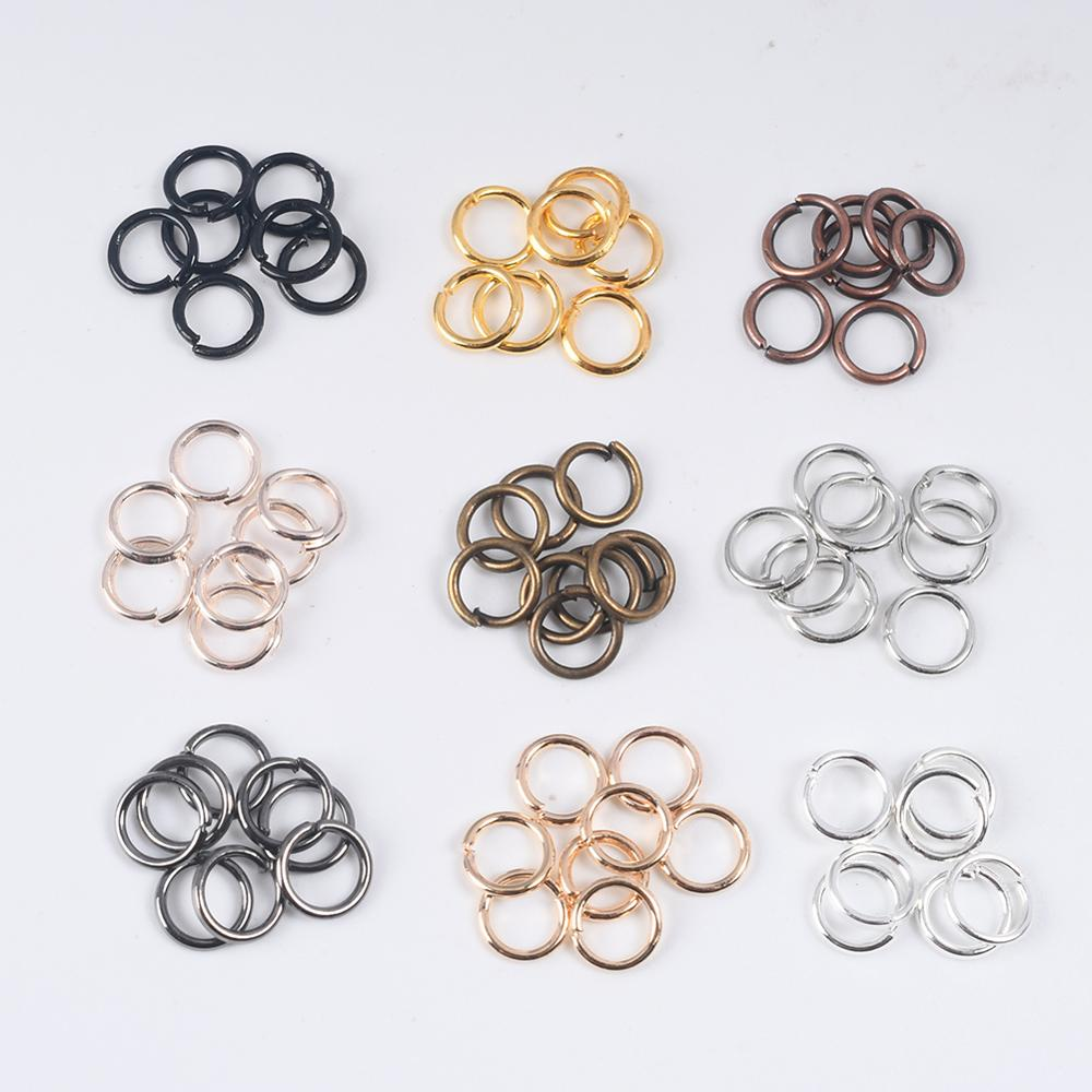 Connectors Jewelry Making-Accessories Split-Rings Diy Single-Loop Open for 100-200pcs