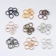100-200Pcs 3-12mm pojedyncza pętla otwarte pierścienie Jump Diy akcesoria do wyrobu biżuterii dzielone pierścienie złącza na elementy do wyrobu biżuterii